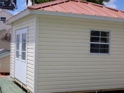 12x12 with colonoal door and hipp roof