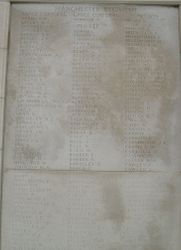 TYNE COT MEMORIAL, LISTING ALL MANCHESTER REGIMENT CASUALTIES.