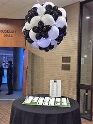 Reception Table Balloon Soccer Centerpiece