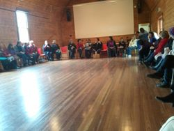 Combined choirs in the Kinglake Hall