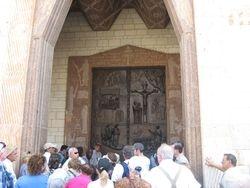 Puerta de Iglesia de la Anunciacion en Nazaret