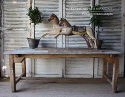 #25/183-184 VIGNETTE WOODEN HORSES