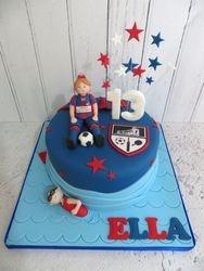 Football and Swimming Birthday Cake