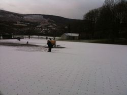 Working through the snow