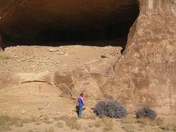 Jennifer at the caves