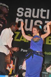 Busara Festival with percussionist Abeid of the Ikhwan Safaa Orchestra