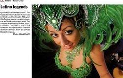 Newspaper article shoot