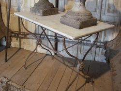 #15/436 Iron Table Marble Top SOLD