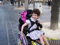 Nikita, in her wheelchair