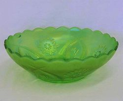 Four Flowers Variant round bowl - green, Brockwitz
