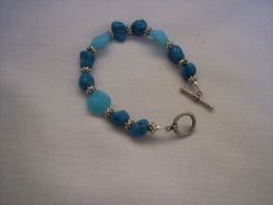 Turquoise  & blue glass beads