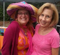 Doris Jefferson and Diane (pretty in pink)