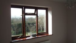 Interior woodstain window