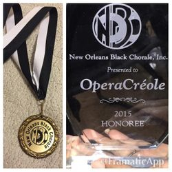 OperaCréole honored