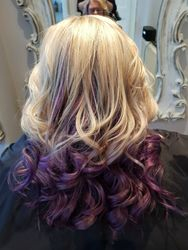 Purple and Pink Ombre with Curls