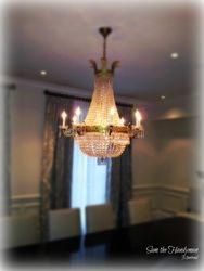 Didiningroom chandelier installation