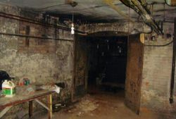 The cellar was dark and a bit eerie!