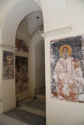 Inside the church, there are still parts of painting on the wall and ceilings.
