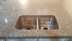50/50 under mount sink