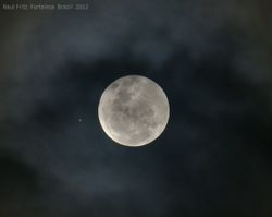 Remarkable conjunction of full Moon and Jupiter on November 28, 2012