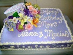 Hatbox and Gumpaste Flowers Cake