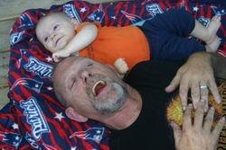 Abram with Grandpa Skip