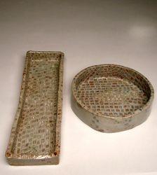 Ceramic pet food and water bowls