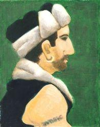 Winter Hat, Oil Pastel, 11x14, Original Sold