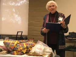 January 2020 speaker: Ann Barrow told us all about quilts