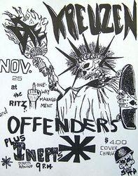 1984-11-25 The Ritz, Austin, TX
