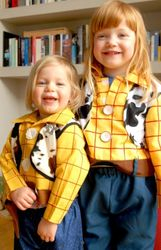 Two young cowgirls