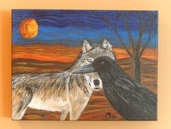 Autumn Moon, 12x9, #150