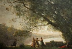 Corot, Dancers Under a Tree, 1855-70, Corcoran Gallery, detail