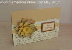 Layered Distress Oxide Flower Card