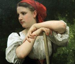 Bouguereau, Peasant Woman, 1869, Pittsburgh, detail