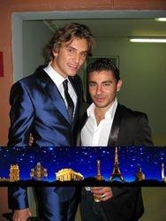 Presenter Kristian Rodic and Fabrizio