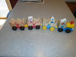Melissa & Doug Disney Baby Mickey Mouse and Friends Wooden Train - $6