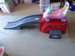 Radio Flyer Roller Coaster Flyer 500 Ride-On with Ramp and Car - $60