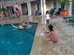 In and Outside of Pool