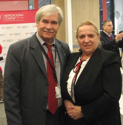 Theodor Damian (left), Victoria Plaveti