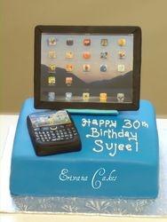 ipad cake and blackberry