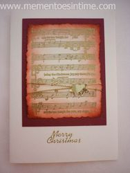 Distressed Musical Card