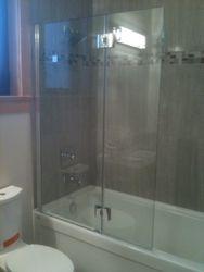 Frameless Tub Shield