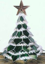 3-D CHRISTMAS TREE LIGHTED
