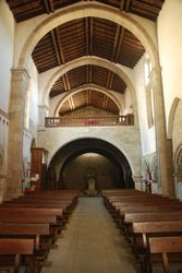 Inside in one of the ancient churches in Betanzos