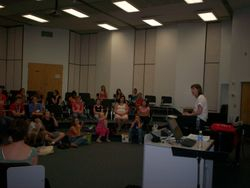 Susan talks with our campers about her life in music