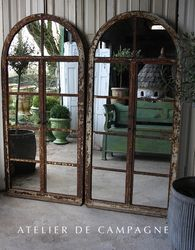 SOLD  #22/137 2 Tall Arched Metal Mirrored SOLD