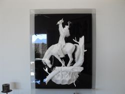 extruded paper art
