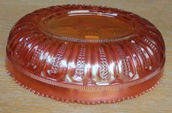 Zipper-round or checkerboard panels oval bowl by Leerdam, Holland