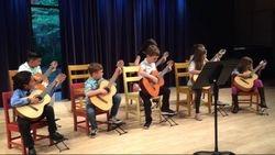 Suzuki Guitar students, NMS, 2018.